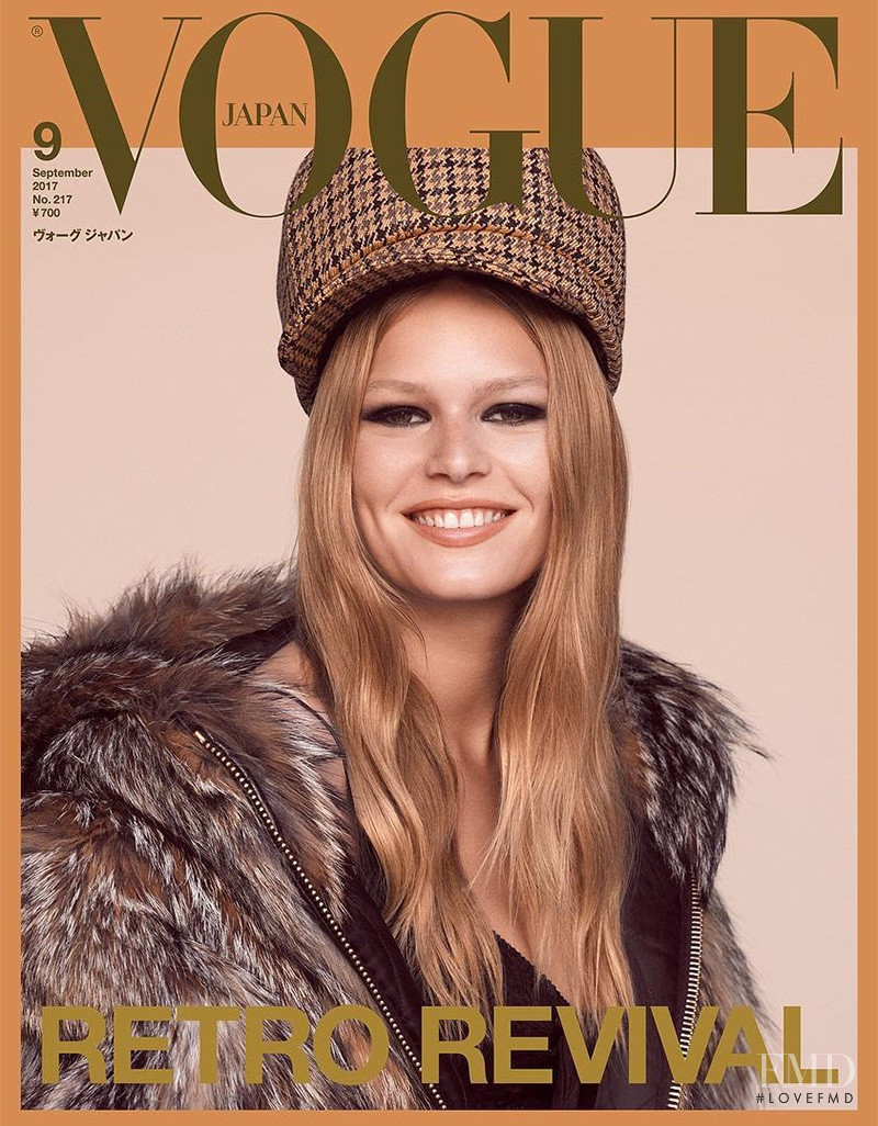 Anna Ewers featured on the Vogue Japan cover from September 2017