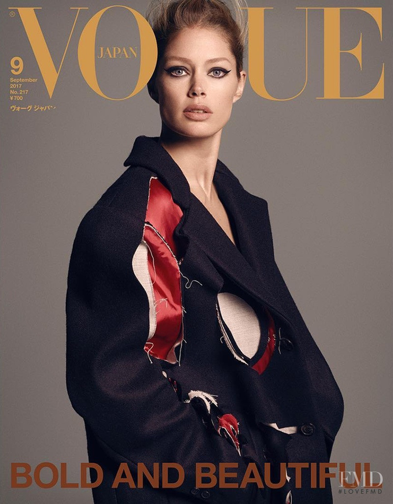 Doutzen Kroes featured on the Vogue Japan cover from September 2017
