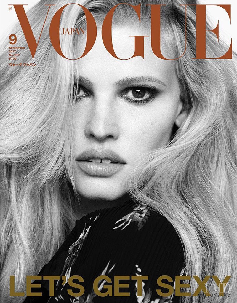 Lara Stone featured on the Vogue Japan cover from September 2017