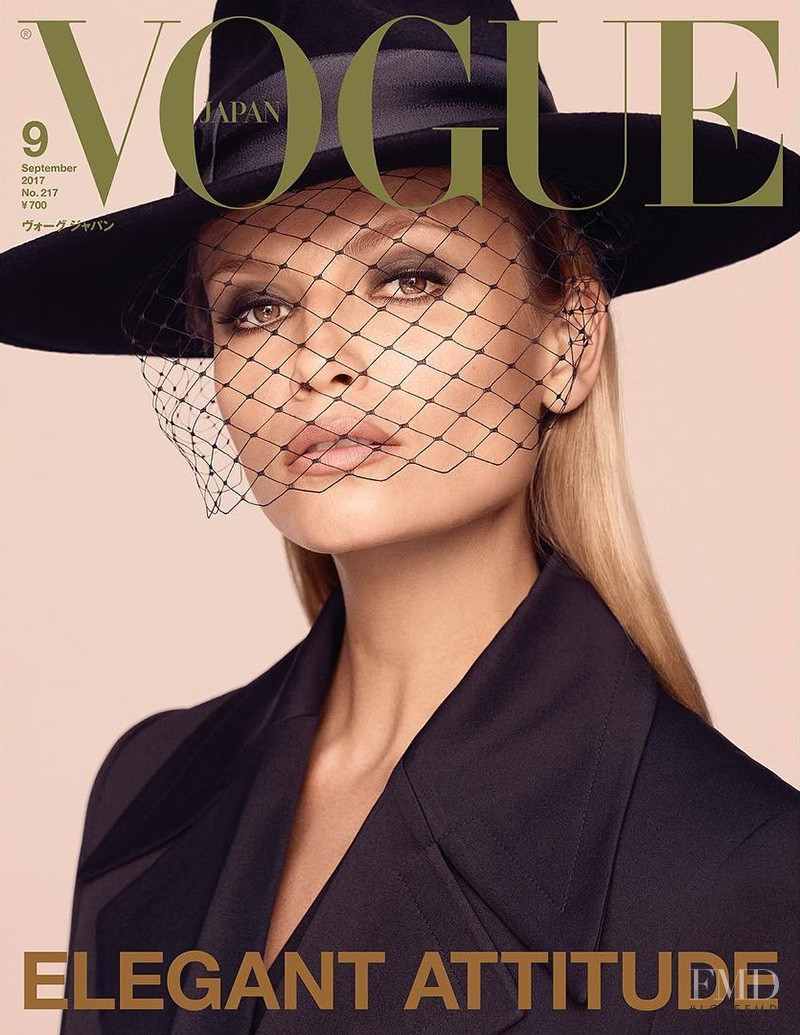 Natasha Poly featured on the Vogue Japan cover from September 2017