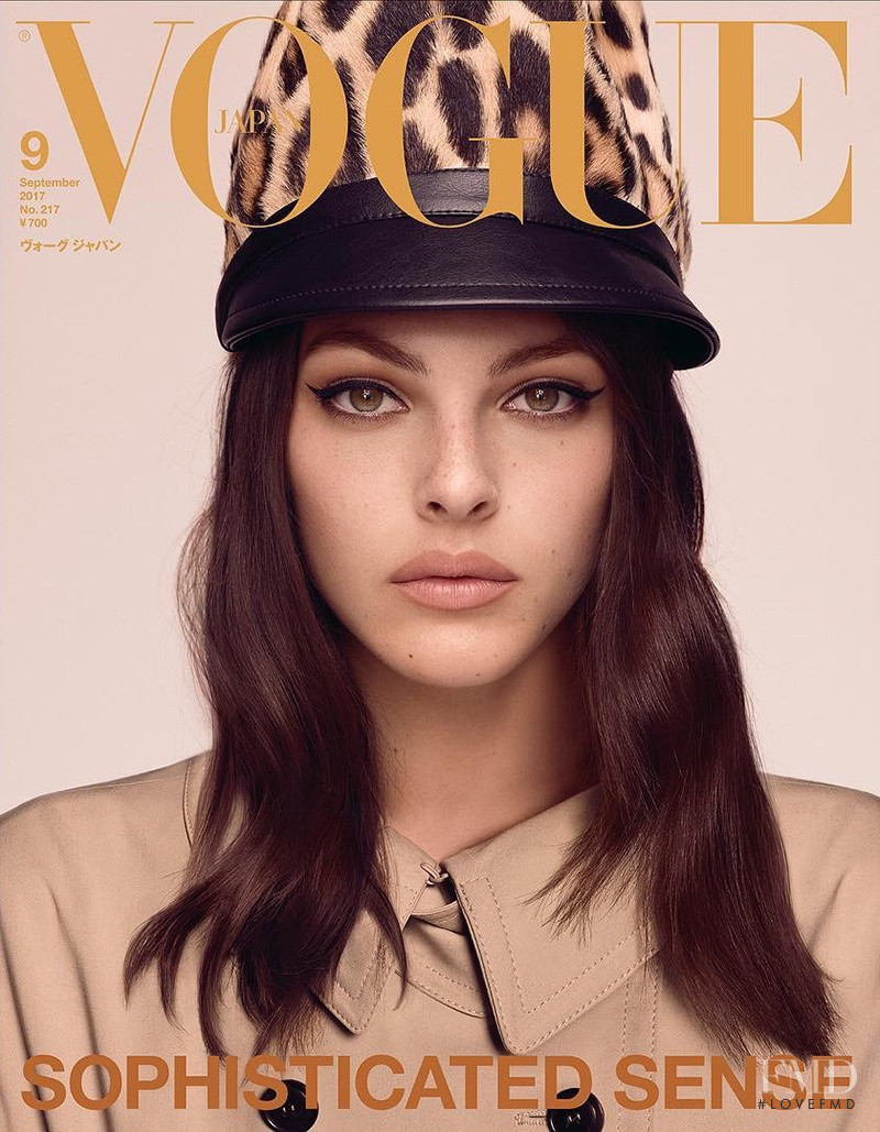 Vittoria Ceretti featured on the Vogue Japan cover from September 2017