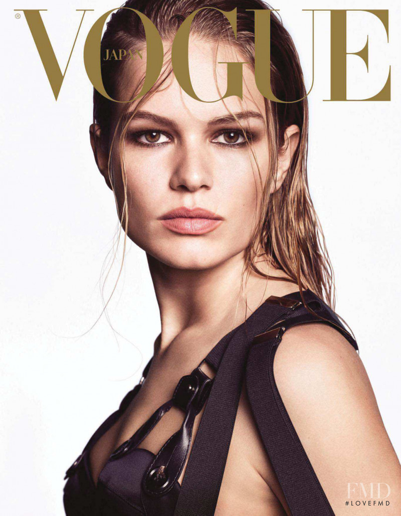 Anna Ewers featured on the Vogue Japan cover from August 2018
