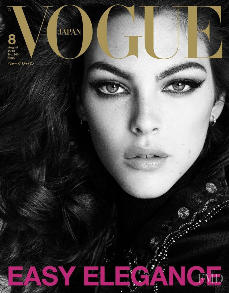 Vittoria Ceretti featured on the Vogue Japan cover from August 2019
