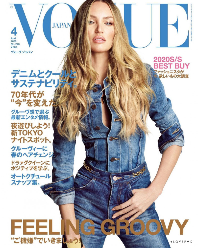 Candice Swanepoel featured on the Vogue Japan cover from April 2020