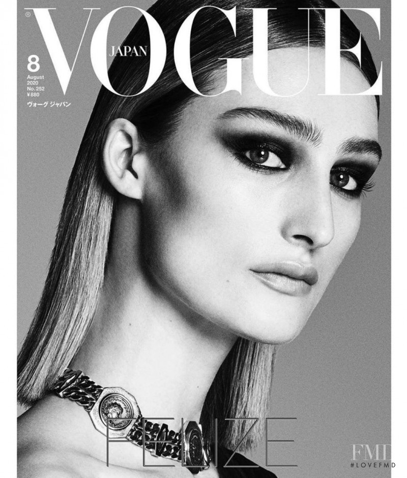Felize Kolibius featured on the Vogue Japan cover from August 2020
