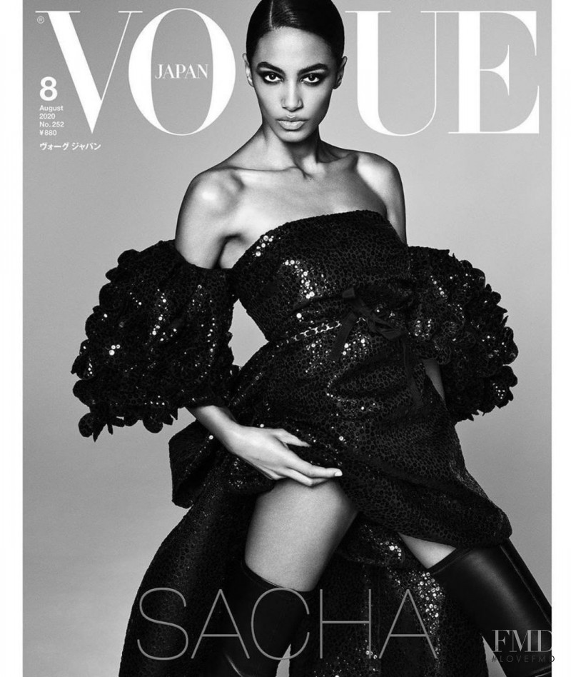 Sacha Quenby featured on the Vogue Japan cover from August 2020