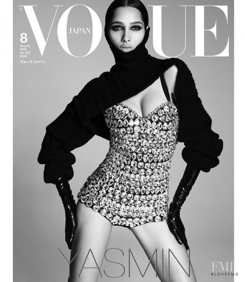 Yasmin Wijnaldum featured on the Vogue Japan cover from August 2020