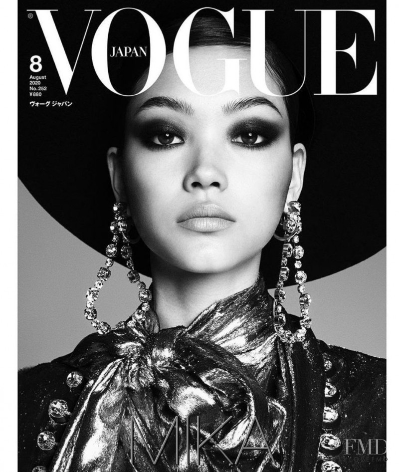 Mika Schneider featured on the Vogue Japan cover from August 2020