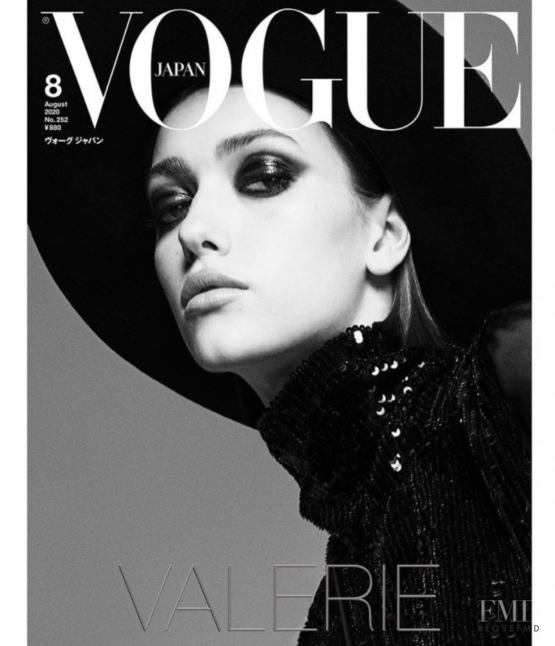 Valerie Scherzinger featured on the Vogue Japan cover from August 2020