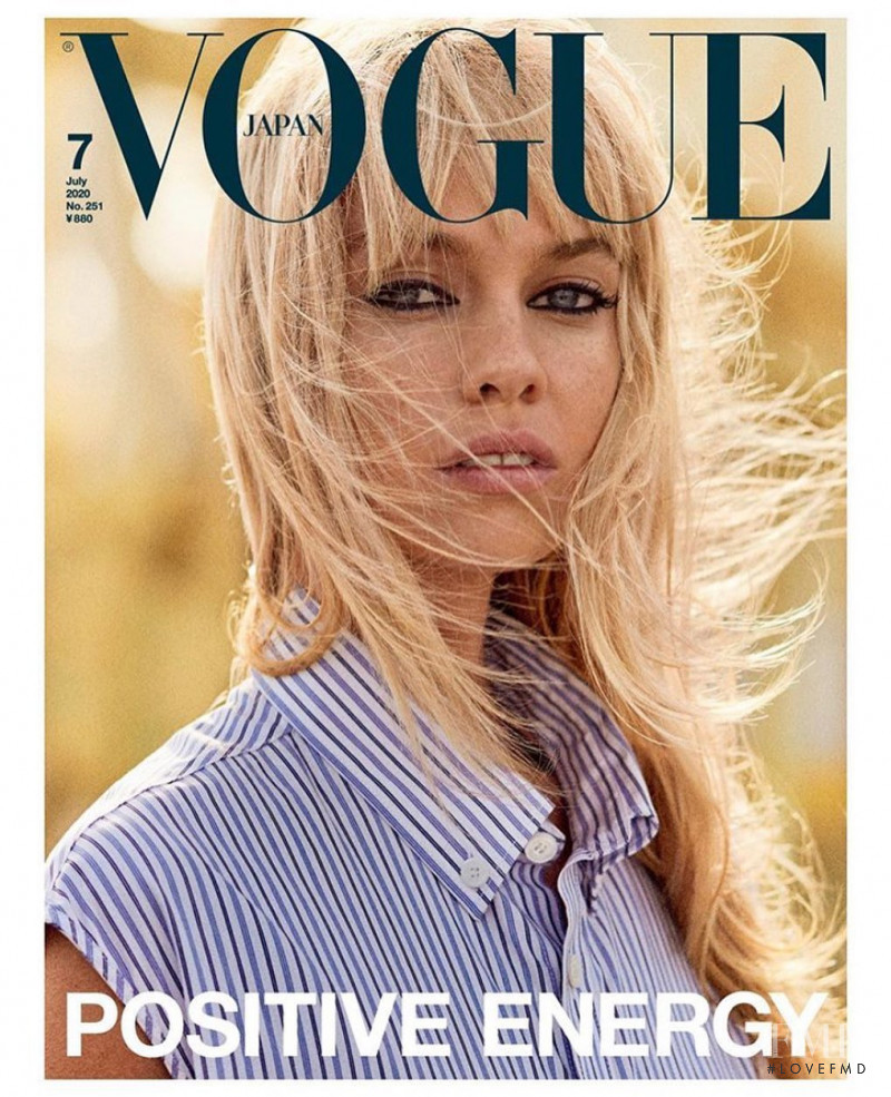 Stella Maxwell featured on the Vogue Japan cover from July 2020