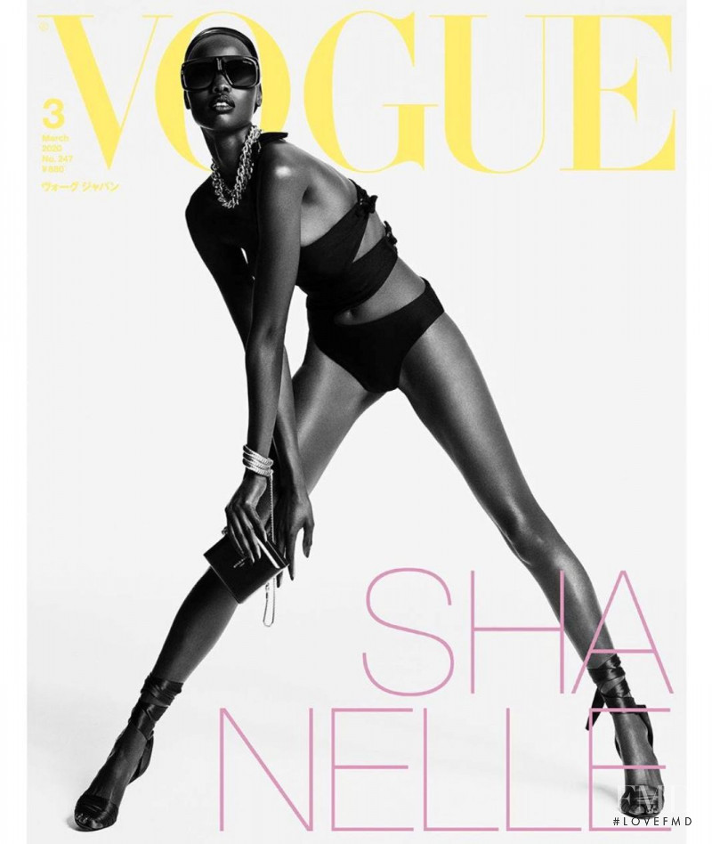 Shanelle Nyasiase featured on the Vogue Japan cover from March 2020