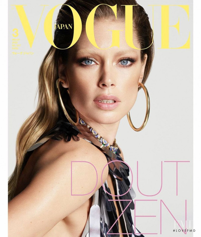 Doutzen Kroes featured on the Vogue Japan cover from March 2020