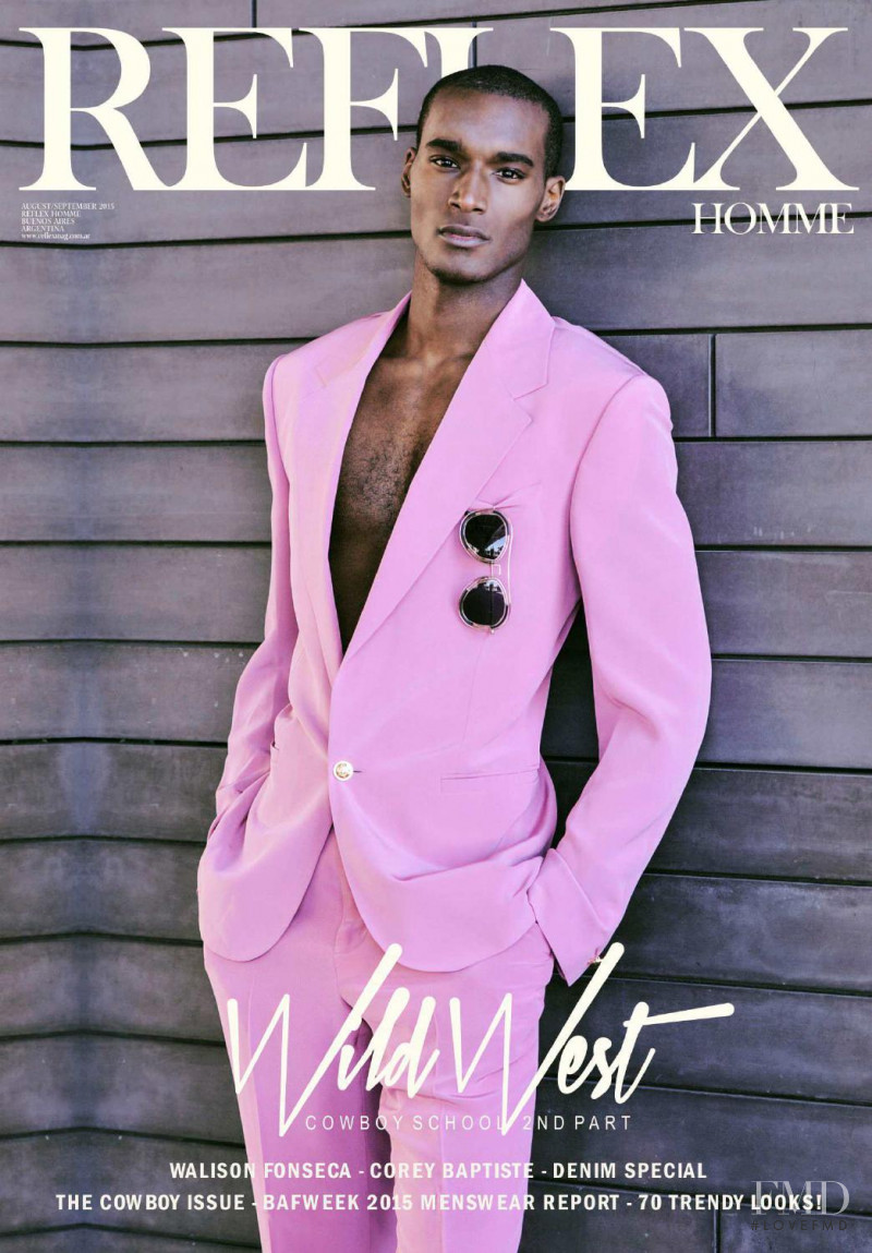 Corey Baptiste featured on the Reflex Homme cover from August 2015