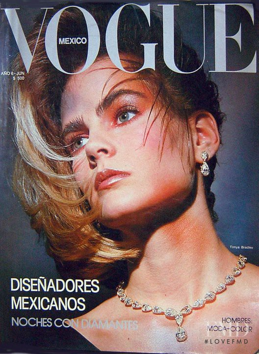 Tonya Bradley featured on the Vogue Mexico cover from June 1985