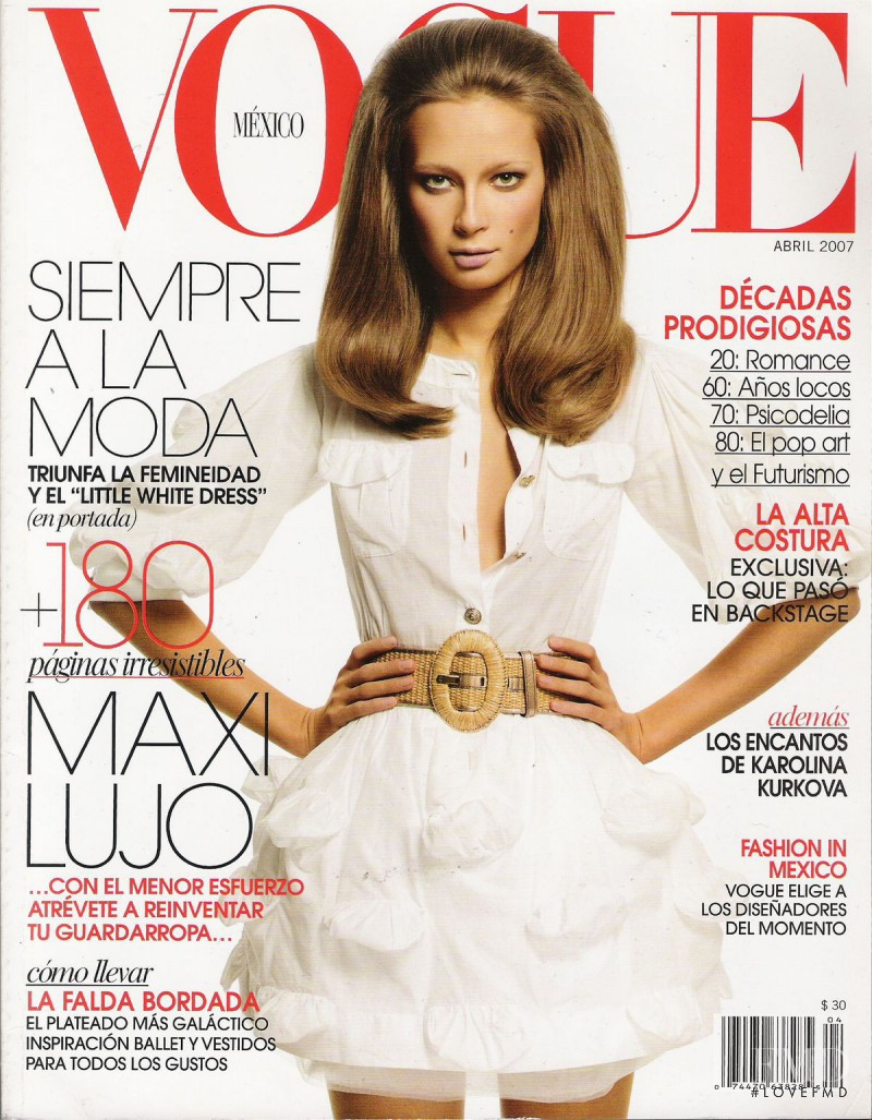 Tiiu Kuik featured on the Vogue Mexico cover from April 2007