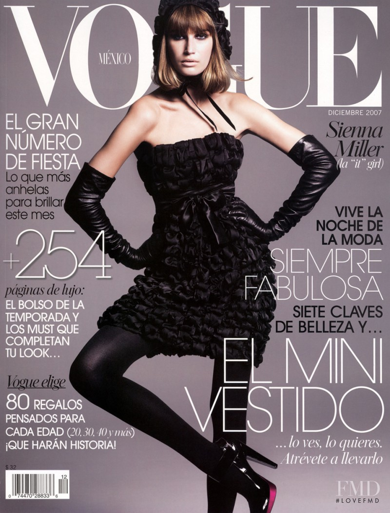 Eugenia Volodina featured on the Vogue Mexico cover from December 2007