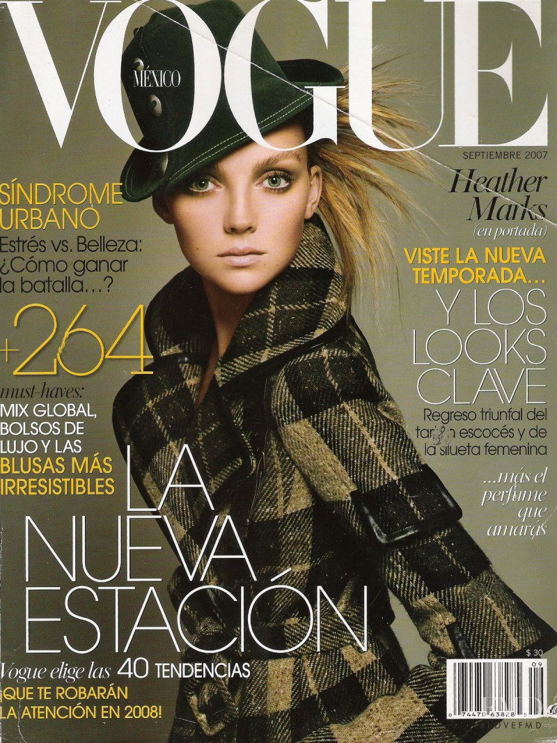 Heather Marks featured on the Vogue Mexico cover from September 2007