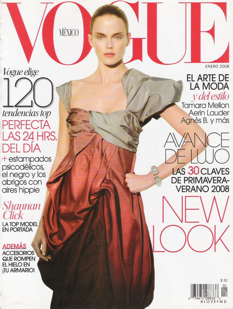 Shannan Click featured on the Vogue Mexico cover from January 2008