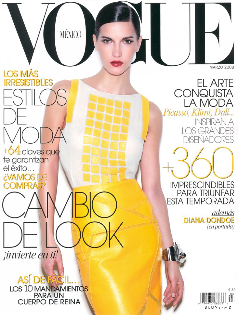 Diana Dondoe featured on the Vogue Mexico cover from March 2008