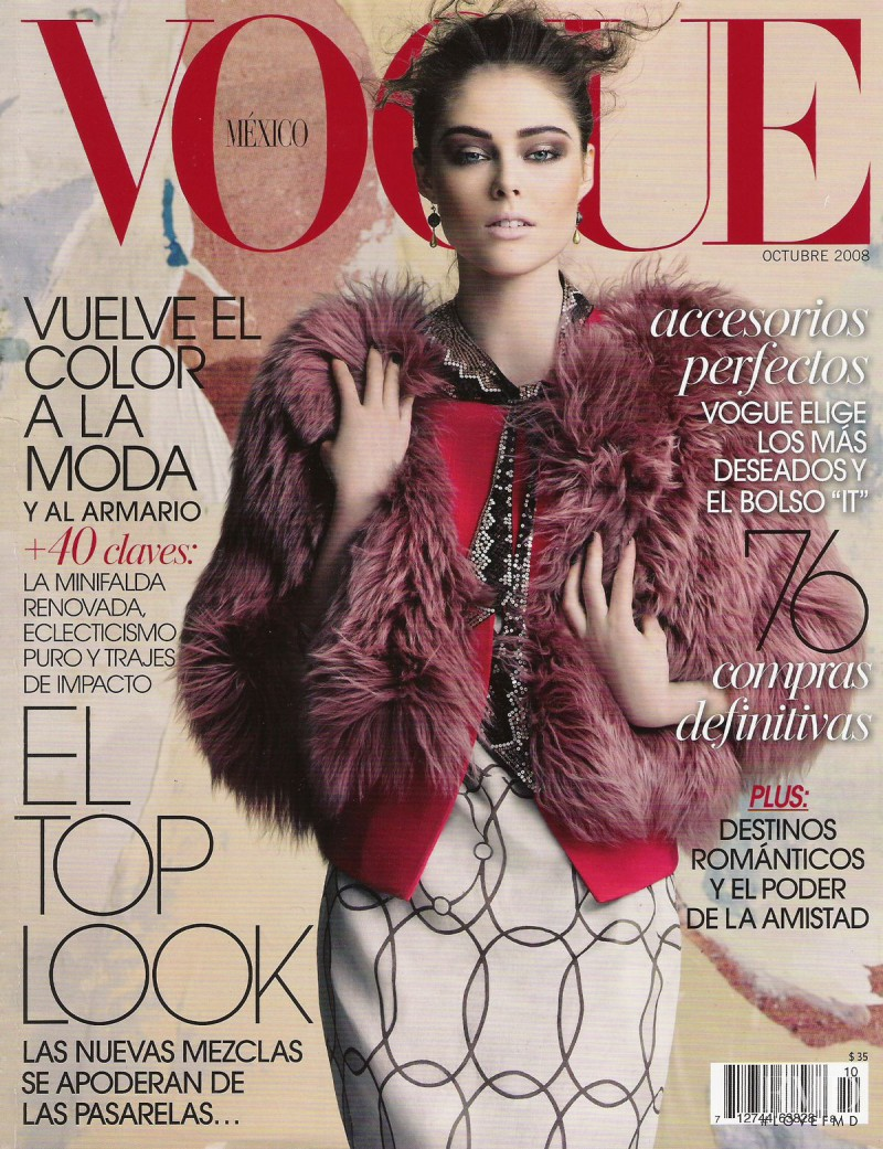 Coco Rocha featured on the Vogue Mexico cover from October 2008