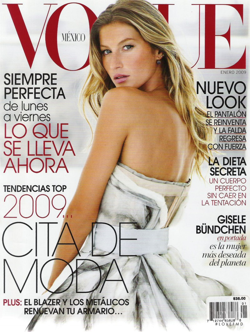 Gisele Bundchen featured on the Vogue Mexico cover from January 2009