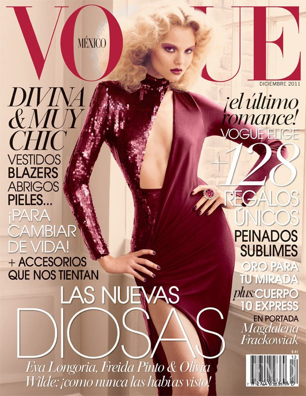 Magdalena Frackowiak featured on the Vogue Mexico cover from December 2011