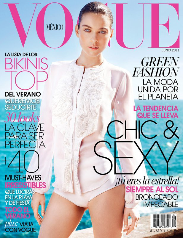 Kim Noorda featured on the Vogue Mexico cover from June 2011