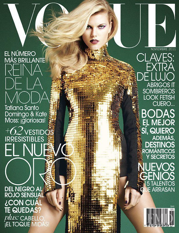 Maryna Linchuk featured on the Vogue Mexico cover from November 2011