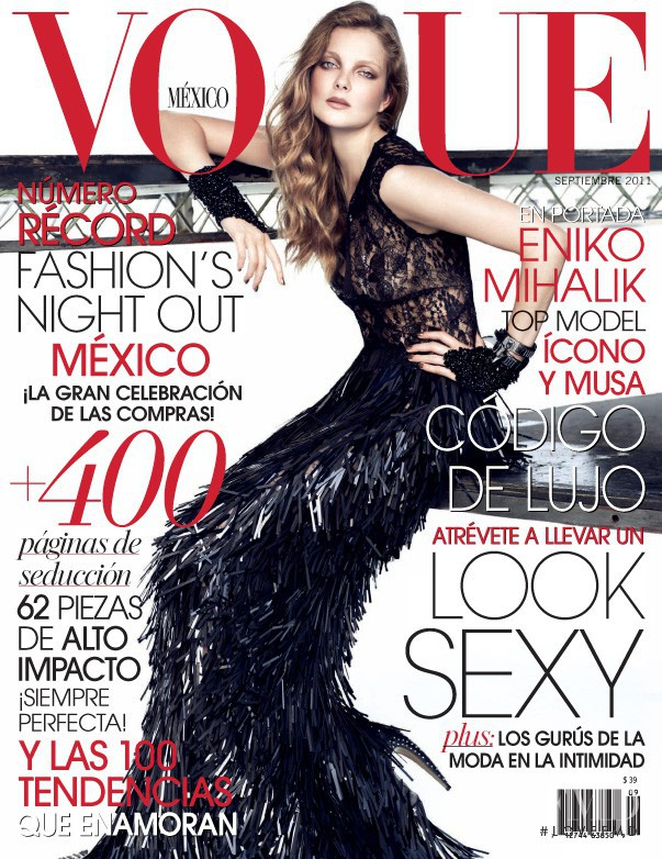 Eniko Mihalik featured on the Vogue Mexico cover from September 2011
