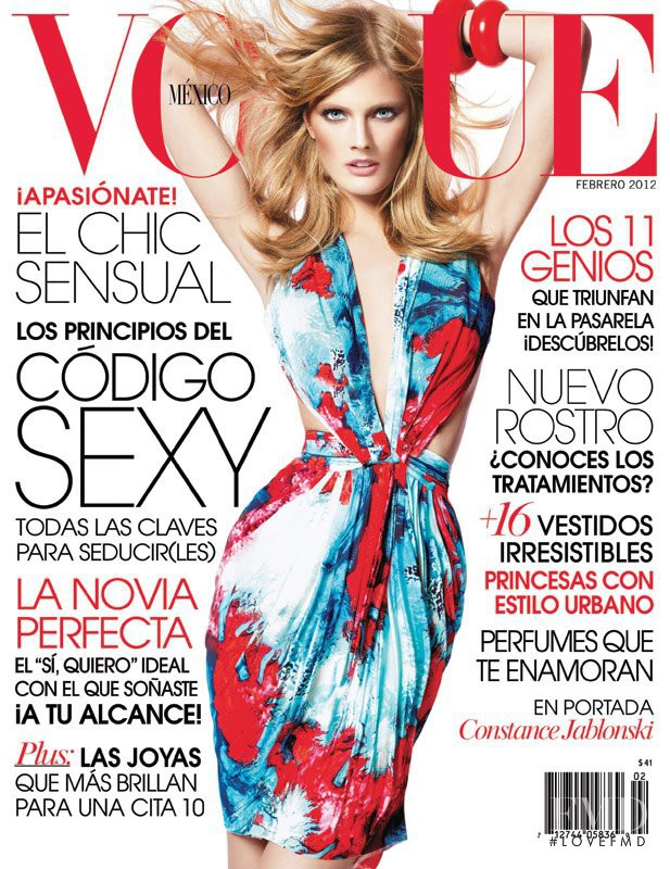 Constance Jablonski featured on the Vogue Mexico cover from February 2012