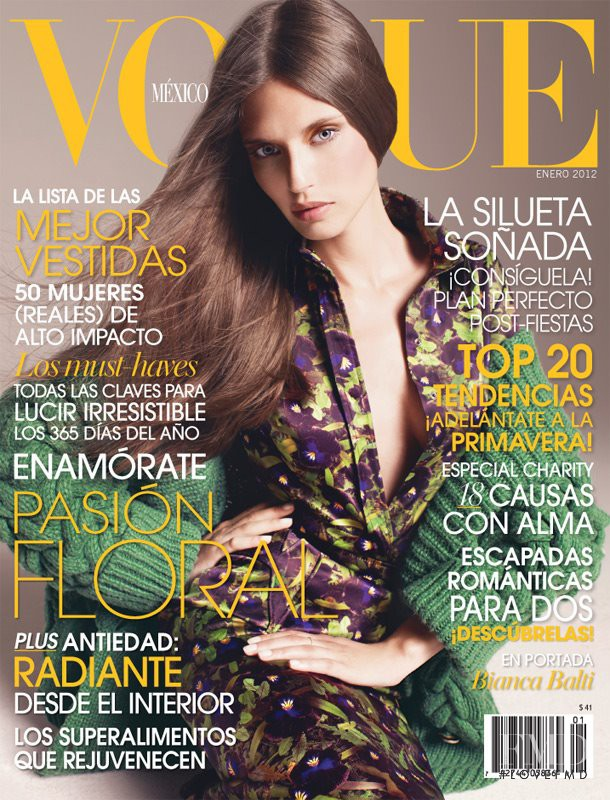 Bianca Balti featured on the Vogue Mexico cover from January 2012