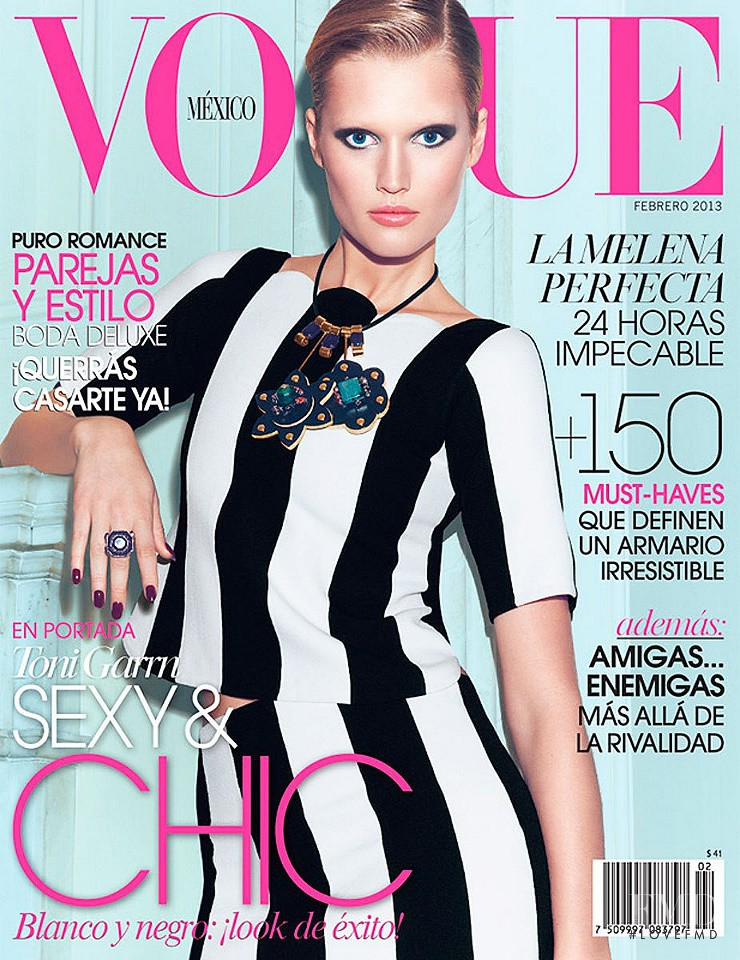 Toni Garrn featured on the Vogue Mexico cover from February 2013