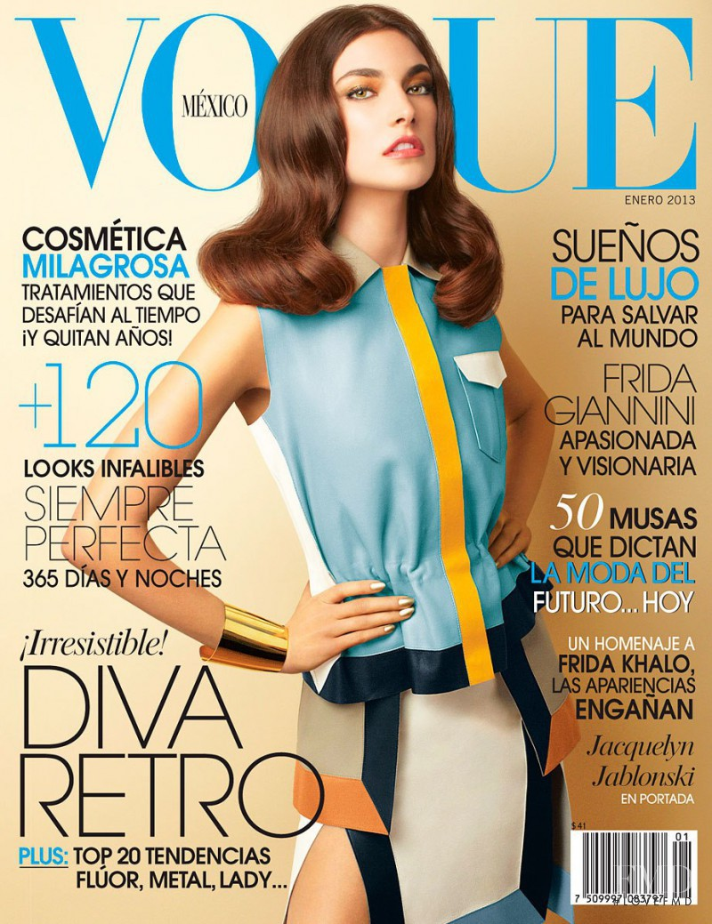 Jacquelyn Jablonski featured on the Vogue Mexico cover from January 2013