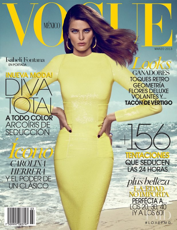 Isabeli Fontana featured on the Vogue Mexico cover from March 2013