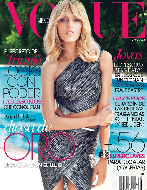 Anja Rubik featured on the Vogue Mexico cover from May 2013