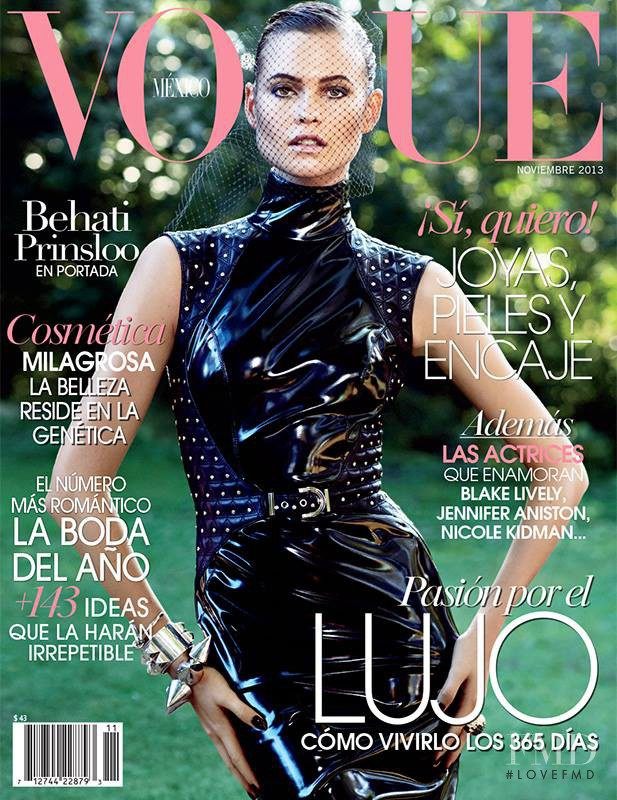 Behati Prinsloo featured on the Vogue Mexico cover from November 2013