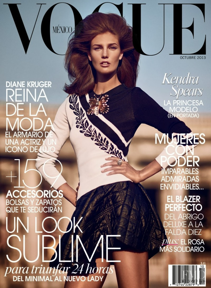 Kendra Spears featured on the Vogue Mexico cover from October 2013