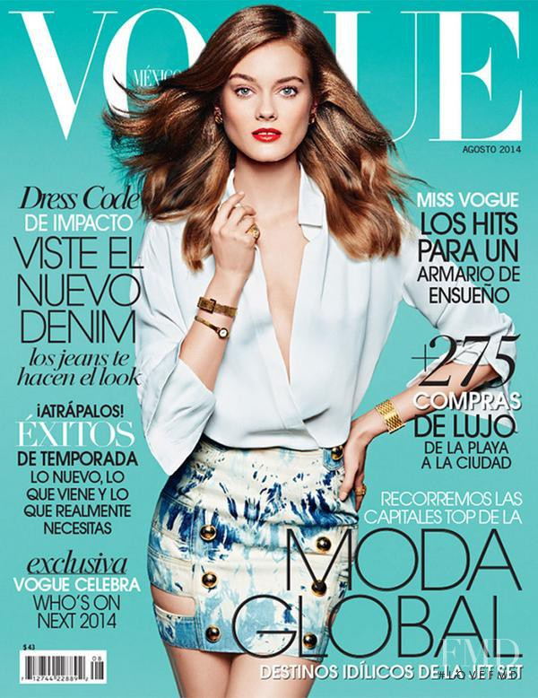 Monika Jagaciak featured on the Vogue Mexico cover from August 2014