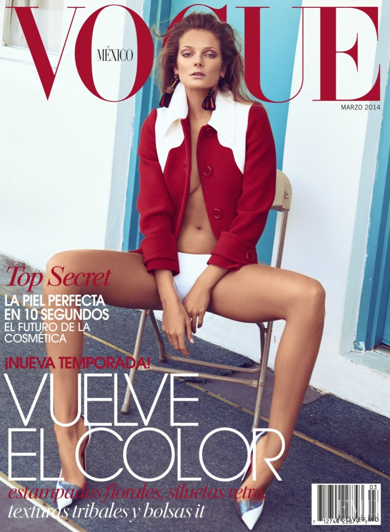 Eniko Mihalik featured on the Vogue Mexico cover from March 2014