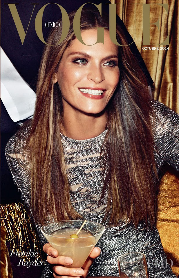 Frankie Rayder featured on the Vogue Mexico cover from October 2014