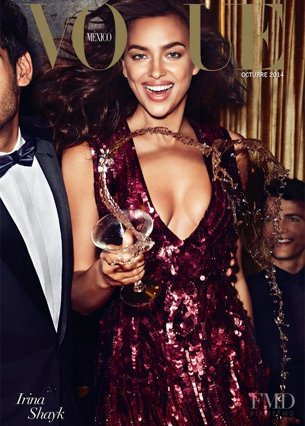 Irina Shayk featured on the Vogue Mexico cover from October 2014
