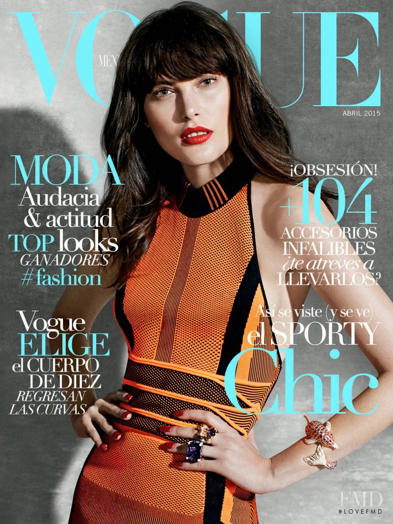 Catherine McNeil featured on the Vogue Mexico cover from April 2015