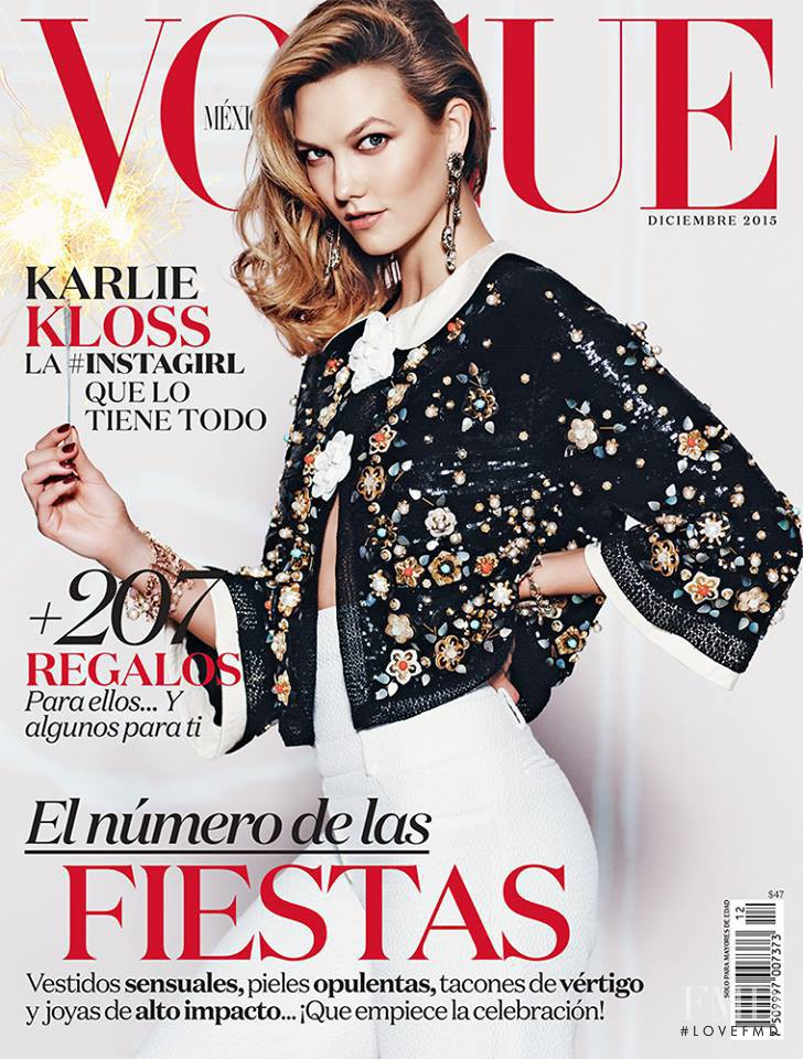 Karlie Kloss featured on the Vogue Mexico cover from December 2015