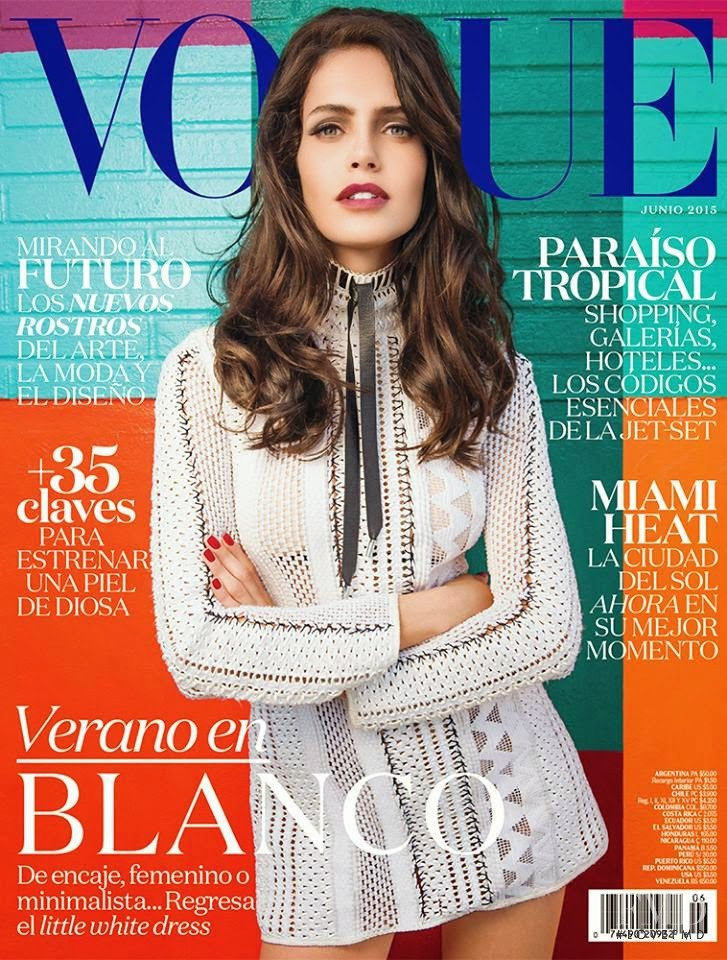 Amanda Brandão featured on the Vogue Mexico cover from June 2015