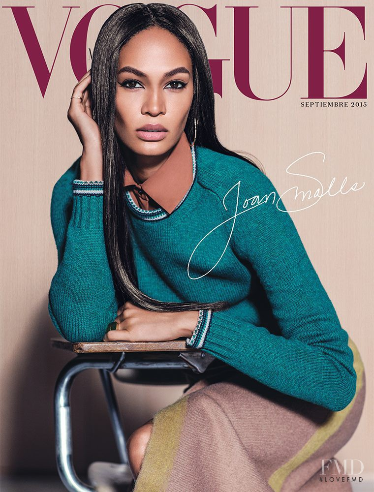 Joan Smalls featured on the Vogue Mexico cover from September 2015