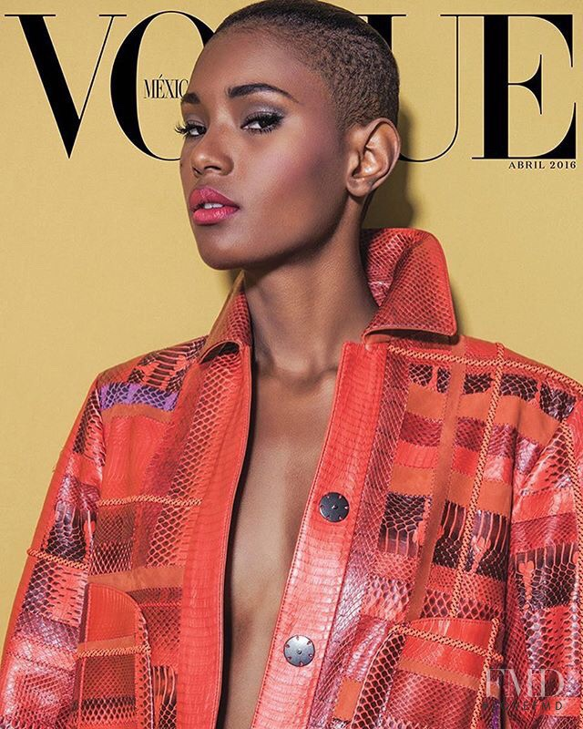 Ysaunny Brito featured on the Vogue Mexico cover from April 2016