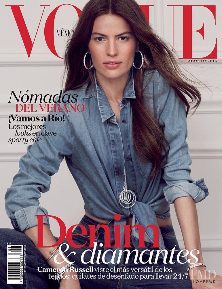Cameron Russell featured on the Vogue Mexico cover from August 2016