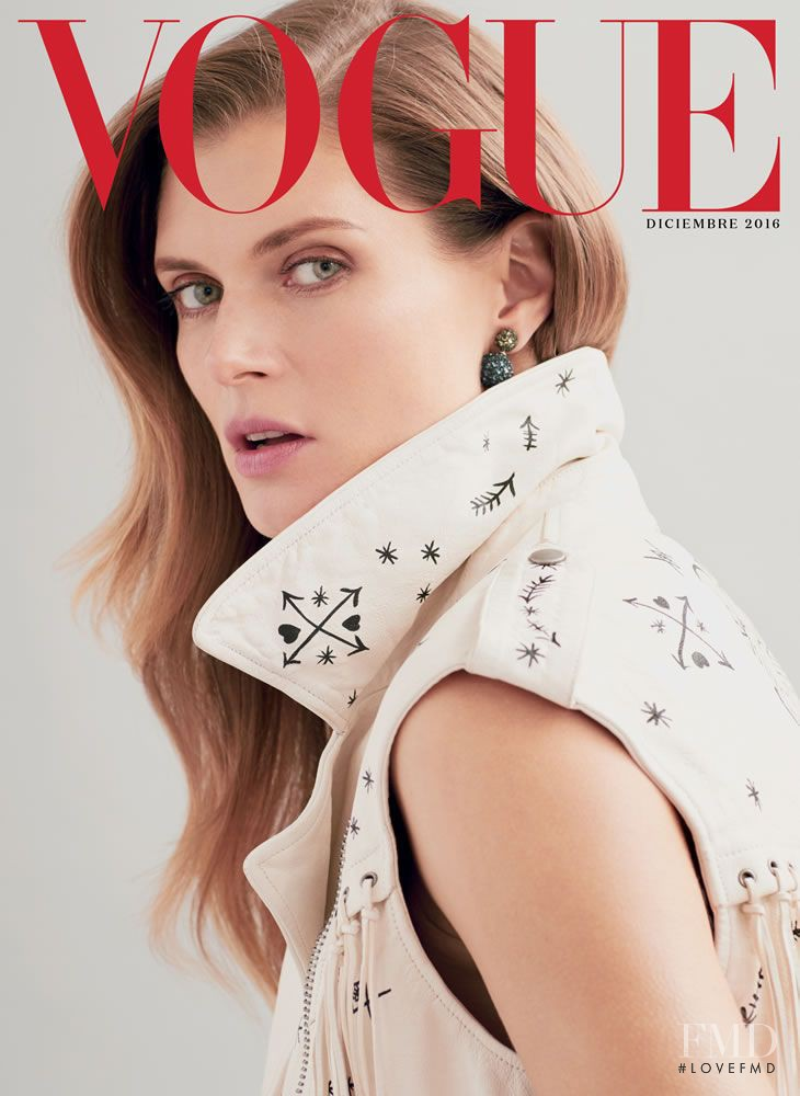 Malgosia Bela featured on the Vogue Mexico cover from December 2016