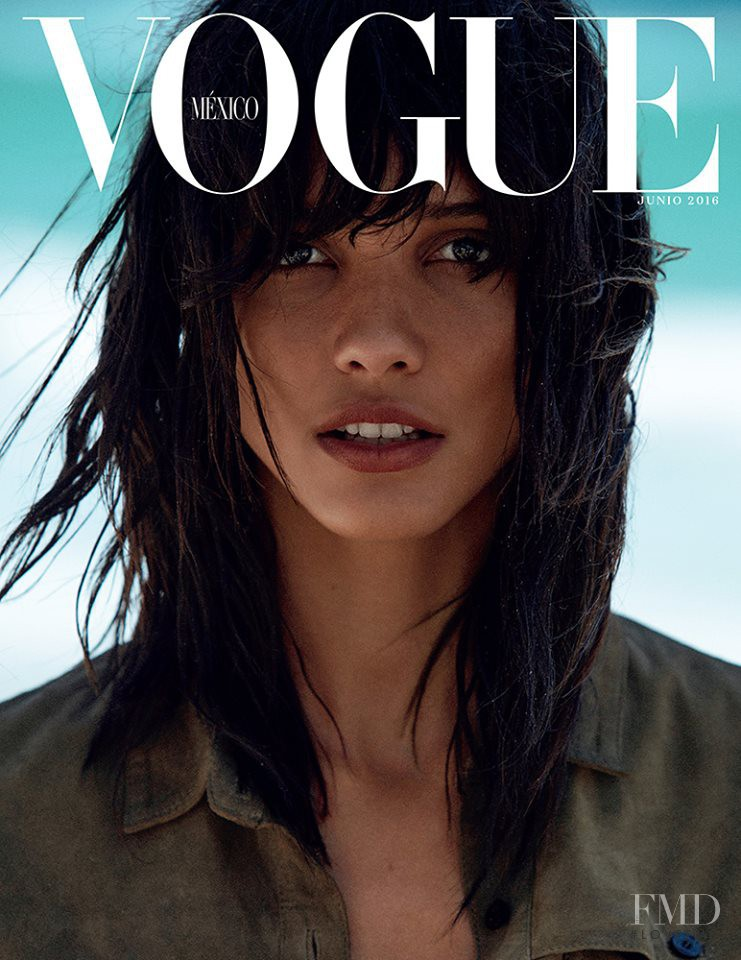 Cora Emmanuel featured on the Vogue Mexico cover from June 2016