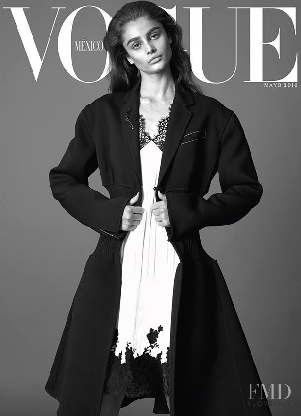 Taylor Hill featured on the Vogue Mexico cover from May 2016